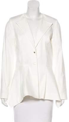 Lela Rose Structured Button-Up Blazer
