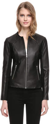 Soia & Kyo RYLEE slim fit leather vest with side panels