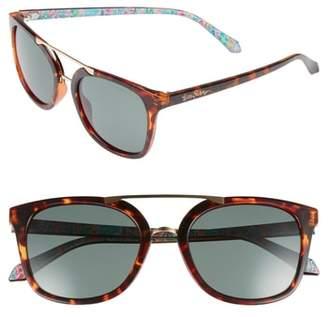 Lilly Pulitzer R Emilia 53mm Polarized Sunglasses