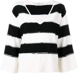 Schumacher Dorothee striped knit loose fit jumper
