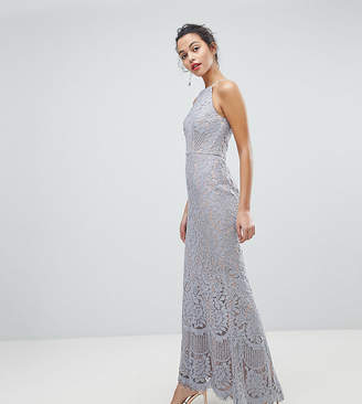 Jarlo All Over Lace Off High Neck Maxi Dress