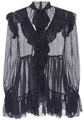 at mytheresa Zimmermann Frolly Ruffle silk-blend blouse
