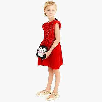 J.Crew Girls' velvet dress with smocked waist