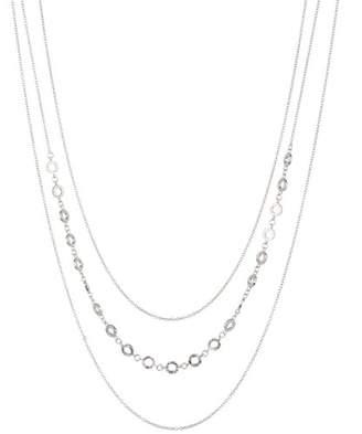 Gorjana Textured Circle Triple Layer Necklace