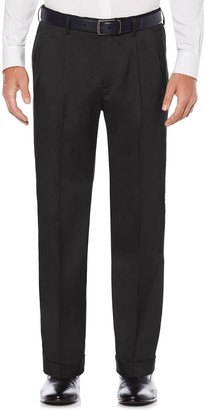 Savane Big & Tall Straight-Fit Stretch Crosshatch Pleated Dress Pants