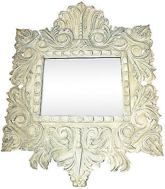 One Kings Lane Vintage Baroque-Style Hand-Carved Mirror - House of Charm Antiques