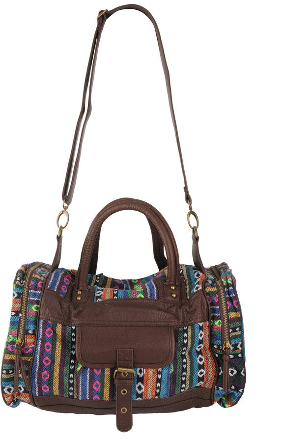 Forever 21 Embroidered Aztec Duffle Bag