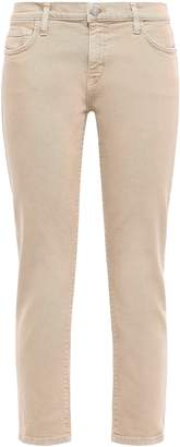 Current/Elliott Cropped Mid-rise Slim-leg Jeans
