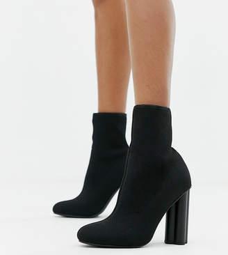 Eliza J Asos Design ASOS DESIGN knitted heeled sock boots