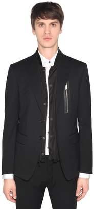 DSQUARED2 Stretch Virgin Wool Jacket W/ Nylon Vest