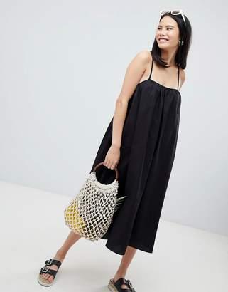 Monki Trapeze Midi Cami Dress