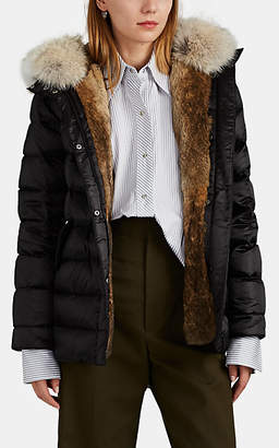 Yves Salomon Army by Women's Fur-Trimmed & Fur-Lined Down Puffer Jacket - Black