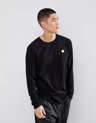Wood Wood Mel Long Sleeve T-Shirt With Aa Logo In Black