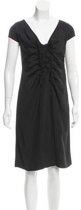 Valentino Ruffle-Accented Knee-Length Dress w/ Tags
