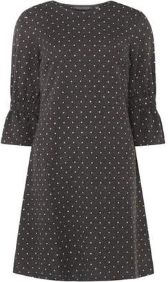 Dorothy Perkins Womens **Tall Grey Spotted Swing Dress