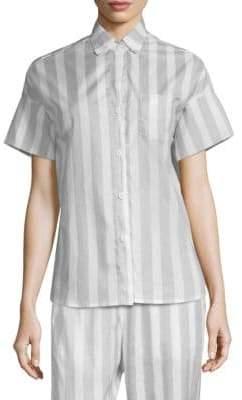 MAISON DU SOIR Gigi Striped Pajama Top