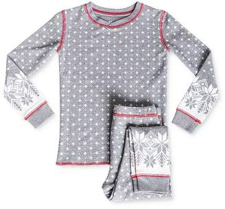 PJ Salvage Girls' Fair Isle Tee & Pants Pajama Set - Little Kid, Big Kid