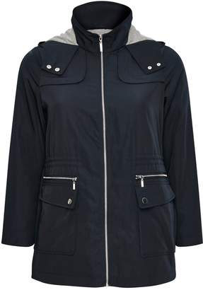 Navy Blue Lightweight Hooded Coat