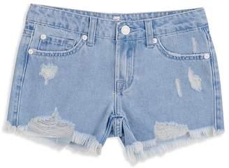 7 For All Mankind Girls' Malibu Destroyed Denim Shorts - Little Kid, Big Kid