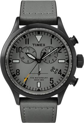 Todd Snyder Timex(R) x The Military Chronograph Leather Strap Watch Set, 43mm