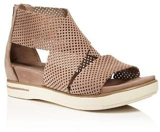 Eileen Fisher Perforated Nubuck Leather Sandals