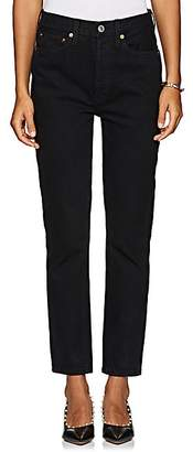 RE/DONE Women's Double Needle Crop Jeans - Black