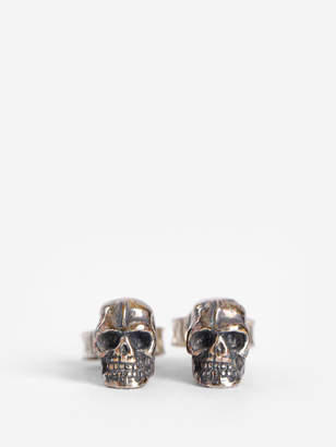 dd2d4e8b5 Emanuele Bicocchi SILVER SKULL EARRINGS