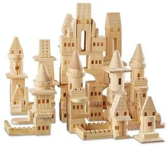 FAO Schwarz Wooden Castle Blocks, 150-Piece Set - Ages 4+