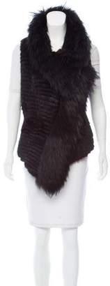 J. Mendel Asymmetrical Fur Vest