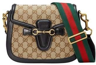 Gucci Lady Web Shoulder GG Monogram Web Nylon Shoulder Strap Medium Brown/Black