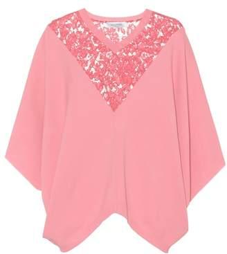 Valentino Lace-trimmed cape sweater