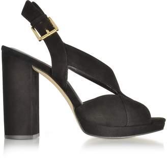 Michael Kors Becky Black Suede Platform Sandals