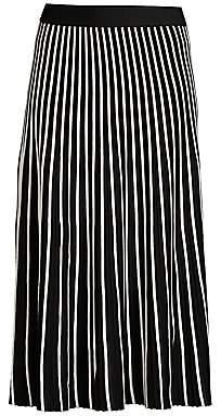 Max Mara Women's Ariano Two-Tone Pleated Skirt