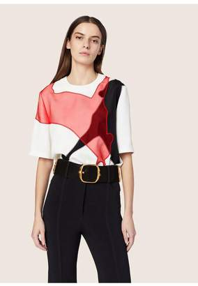 Derek Lam Tee With Horse Embroidery