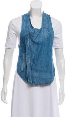 Helmut Lang High-Low Denim Vest