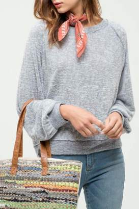 Blu Pepper Raglan Sweater Top