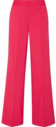 Oscar de la Renta - Stretch-cady Wide-leg Pants - Fuchsia $1,190 thestylecure.com
