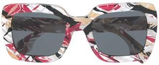Burberry Eyewear printed square frame sunglasses