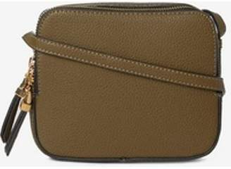 Dorothy Perkins Womens Khaki Double Zip Cross Body Bag