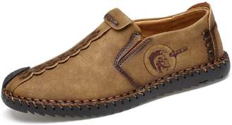 4f80944170c TQGOLD Mens Casual Leather Loafers Handmade Slip-On Comfortable Moccasins  Shoes Driving Fashion US 5.5