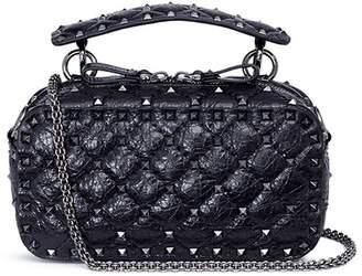 'Free Rockstud Spike' leather camera bag