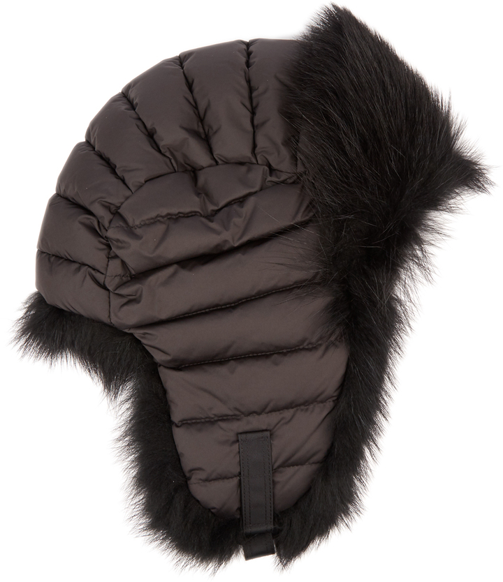 Moncler MONCLER GRENOBLE Fur-trimmed down-filled hat