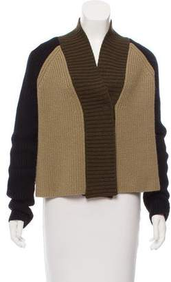 Givenchy Colorblock Wool-Blend Cardigan