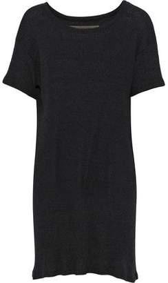 Enza Costa Mélange Ribbed-Knit Mini Dress