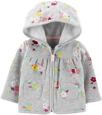 Carter's Baby Girl Floral Zip-Up Fleece Cardigan