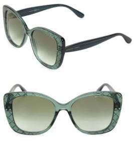 Bottega Veneta DNA Intrecciato 53MM Butterfly Sunglasses