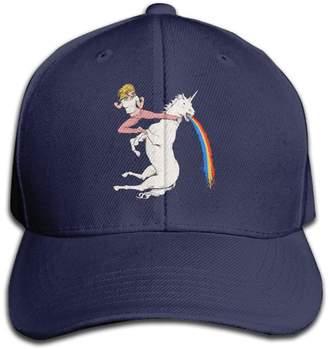 Jermily-caps Woman Kicking Unicorn Casual Cap Hats Adjustable Baseball Cap