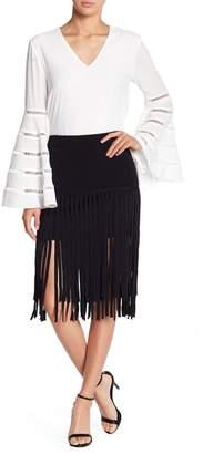 Endless Rose Fringe Knit Skirt