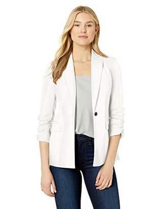 Calvin Klein Women's Ruched Sleeve Blazer