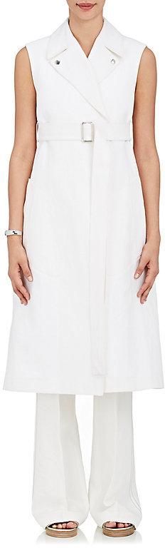 Calvin Klein CALVIN KLEIN WOMEN'S PIQUÉ LINEN-COTTON BELTED VEST